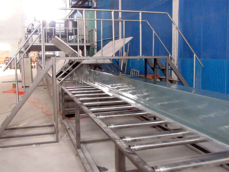 SH1500 FRP water draining gutter production line